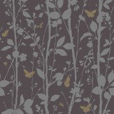 Albany Dazzle Woodland Charcoal Wallpaper