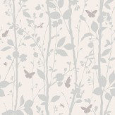 Albany Dazzle Woodland Opal White Wallpaper