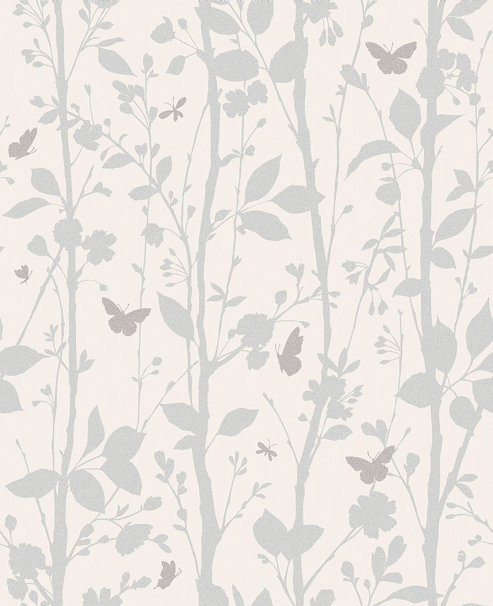 Albany Dazzle Woodland Opal White Wallpaper - Product code: 40930