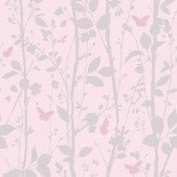 Albany Dazzle Woodland Pink Wallpaper