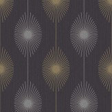 Albany Dazzle Retro Charcoal Wallpaper