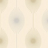 Albany Dazzle Retro Cream / Gold Wallpaper