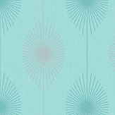 Albany Dazzle Retro Teal Wallpaper