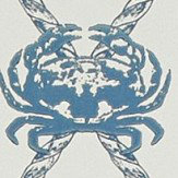 Barneby Gates Crab Marine Blue Wallpaper