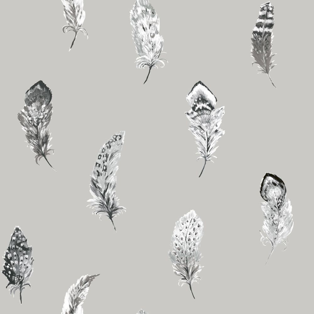 Albany Liatris Silver and Grey Wallpaper - Product code: 98473