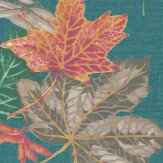 Albany Mulberry Teal Wallpaper