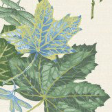 Albany Mulberry Cream and Blue Wallpaper