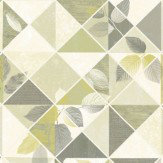 Albany Aster Citrus and Grey Wallpaper - Product code: 98531