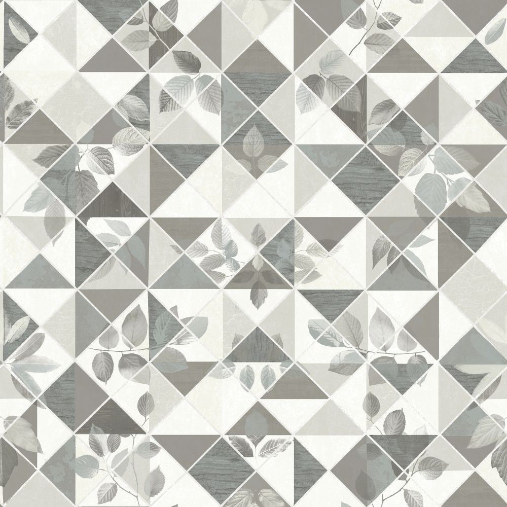 Albany Aster  Charcoal and Silver Wallpaper - Product code: 98533