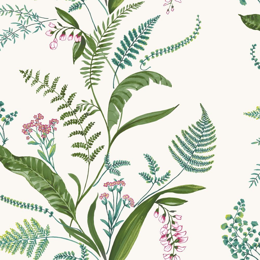 Albany Cembra Green and Fuchsia Wallpaper - Product code: 98542