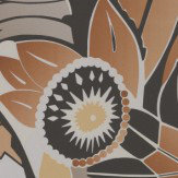 Osborne & Little Fantasque Burnt Orange & Ebony Wallpaper - Product code: W6890-03