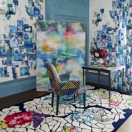 Follete Mural - Bleu de Roi - by Christian Lacroix