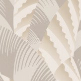 Osborne & Little Chrysler Gilver and Off White Wallpaper - Product code: W6891-03