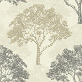 Sophie Conran Alderwood Truffle Wallpaper