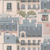 Manuel Canovas Les Toits Paris Vert de Gris Wallpaper
