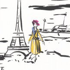 Manuel Canovas La Parisienne Noir / Blanc Wallpaper - Product code: 3083/01