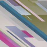 Osborne & Little Cubiste Fuchsia and Teal Wallpaper - Product code: W6896-02