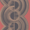 Osborne & Little Lempicka Coral & Dark Dove Wallpaper