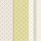 Albany Mika Stripe Heather & Citrus Wallpaper