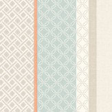 Albany Mika Stripe Teal & Coral Wallpaper