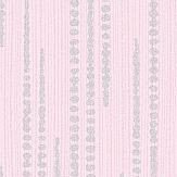 Albany Dotted Stripe Pink Wallpaper