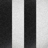 Albany Glitter Broad Stripe Black / White Wallpaper