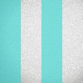 Albany Glitter Broad Stripe Turquoise Wallpaper
