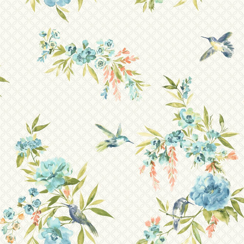 Albany Mika Teal & Coral Wallpaper - Product code: 98591