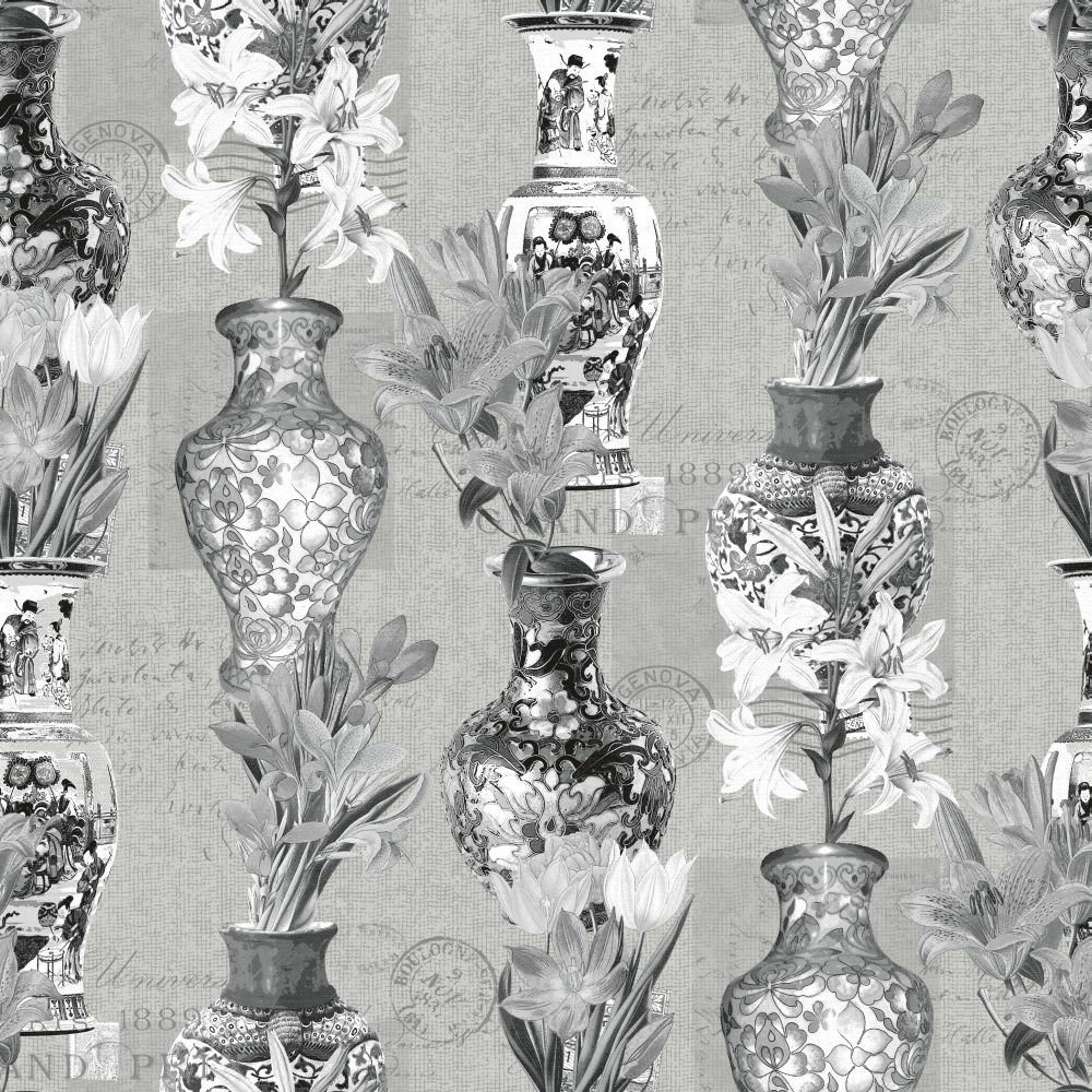 Albany Imari Grey & Silver Wallpaper - Product code: 98612