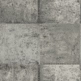 Albany Patina Silver Charcoal Wallpaper