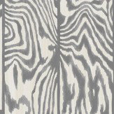 Cole & Son Zebrawood Black / White Wallpaper