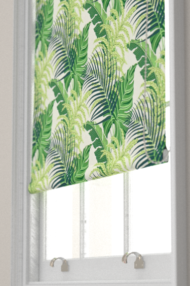 Sanderson Manila Green / Ivory Blind - Product code: 223278