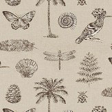 Sanderson Cocos Linen / Charcoal  Fabric - Product code: 223291