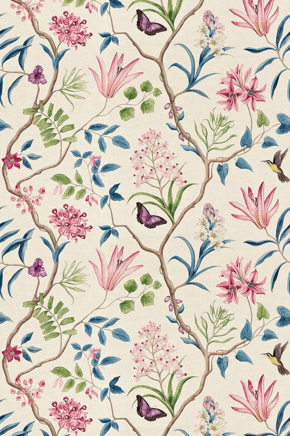 Clementine By Sanderson Indienne Wallpaper Direct