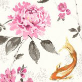 Albany Koi White & Pink Wallpaper - Product code: 98681