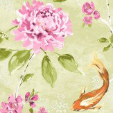 Albany Koi Lime & Pink Wallpaper - Product code: 98682