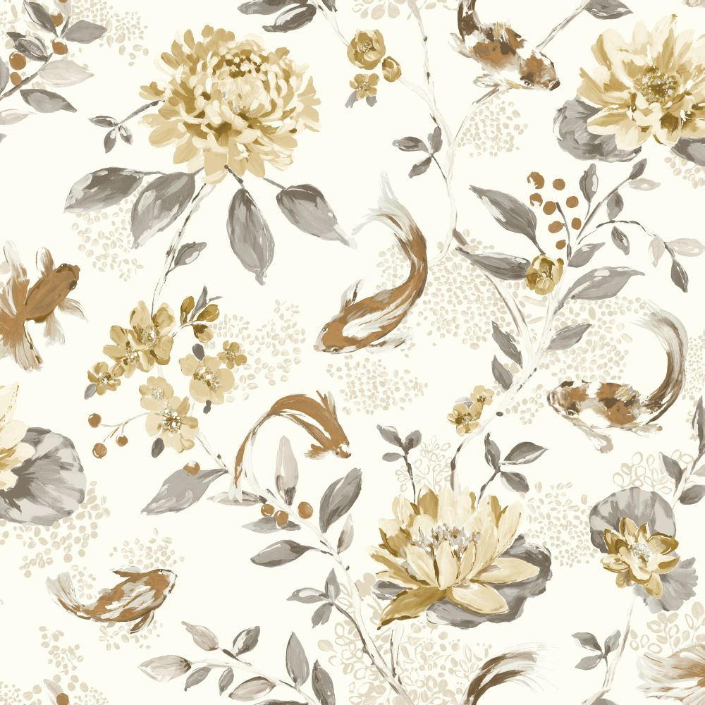 Albany Koi Neutral & Beige Wallpaper - Product code: 98683