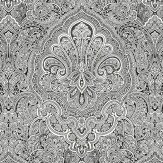 Galerie Indian Damask Black / White Wallpaper - Product code: BW28703