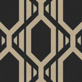 Galerie Geometric Black Wallpaper