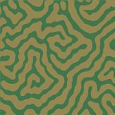 Cole & Son Vermicelli Green / Gold Wallpaper