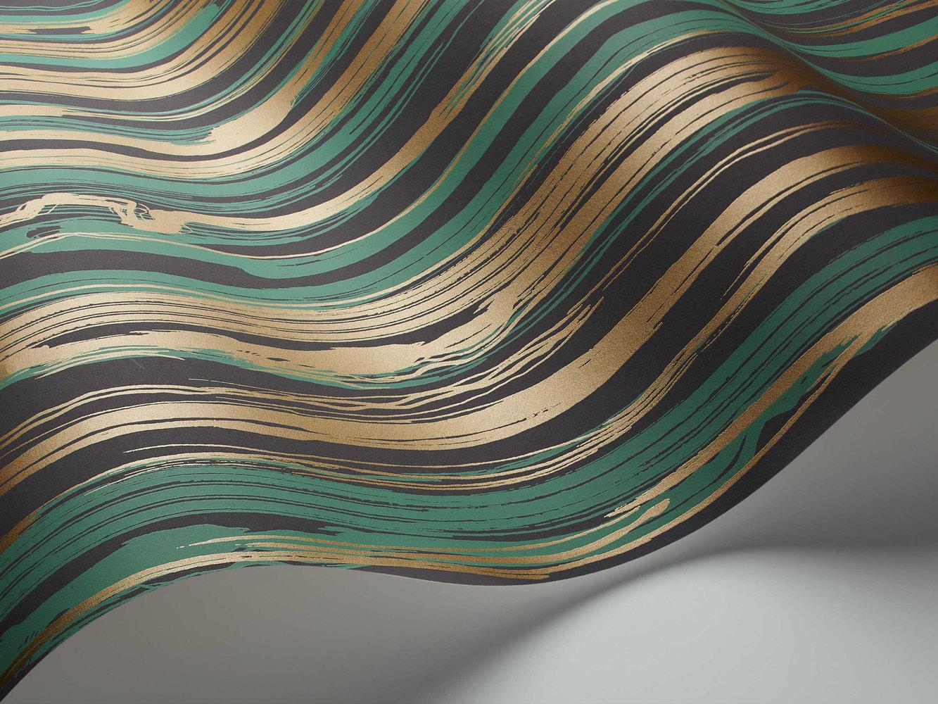 Cole & Son Strand Emerald / Gold Wallpaper - Product code: 107/7036