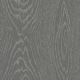 Cole & Son Woodgrain Black / Silver Wallpaper