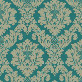 Arthouse Da Vinci Damask Teal Wallpaper