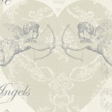 Arthouse Cherub Natural Wallpaper