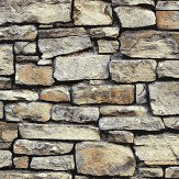 Arthouse Cornish Stone Brown Wallpaper