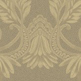 Albany Clara Pluma Antique Gold Wallpaper