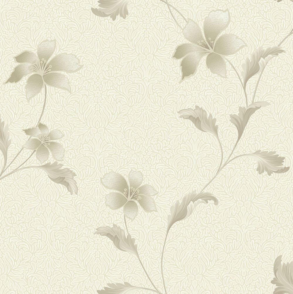 Albany Floriana Taupe Cream Wallpaper main image