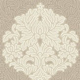 Albany Floriana Damask Taupe Wallpaper