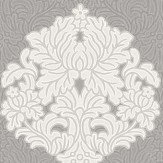 Albany Floriana Damask Grey Wallpaper