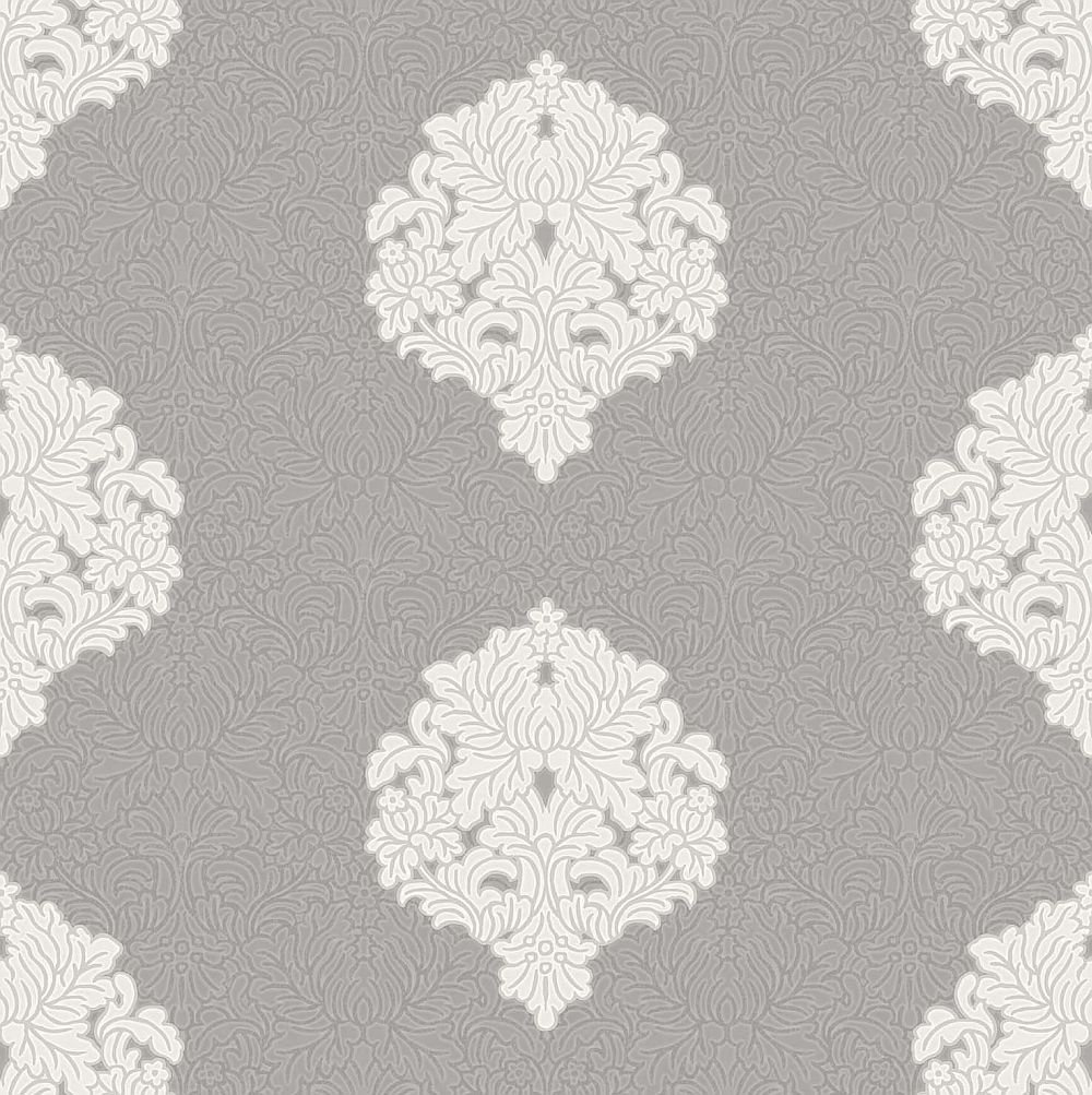 Albany Floriana Damask Grey Wallpaper - Product code: 35343